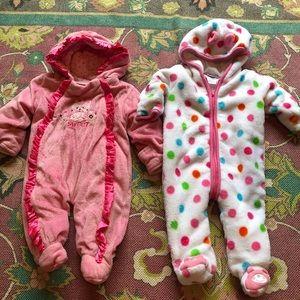 Girls Absorba & Lullababy Full Zip Polka Dot Suit